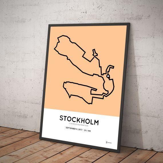 2017 Stockholm half marathon course print