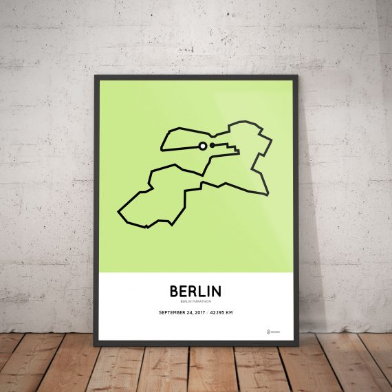 2017 berlin marathon course poster