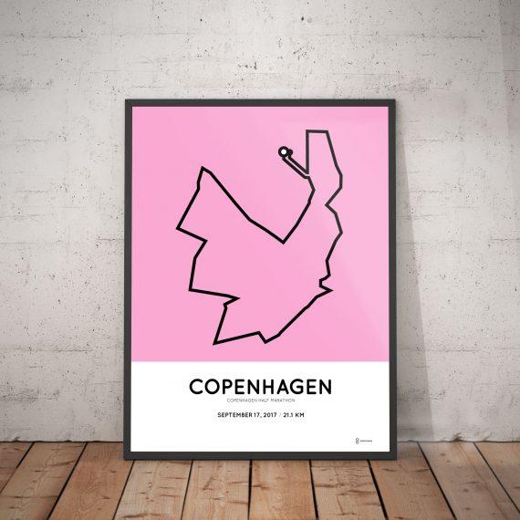 2017 copenhagen half marathon course print