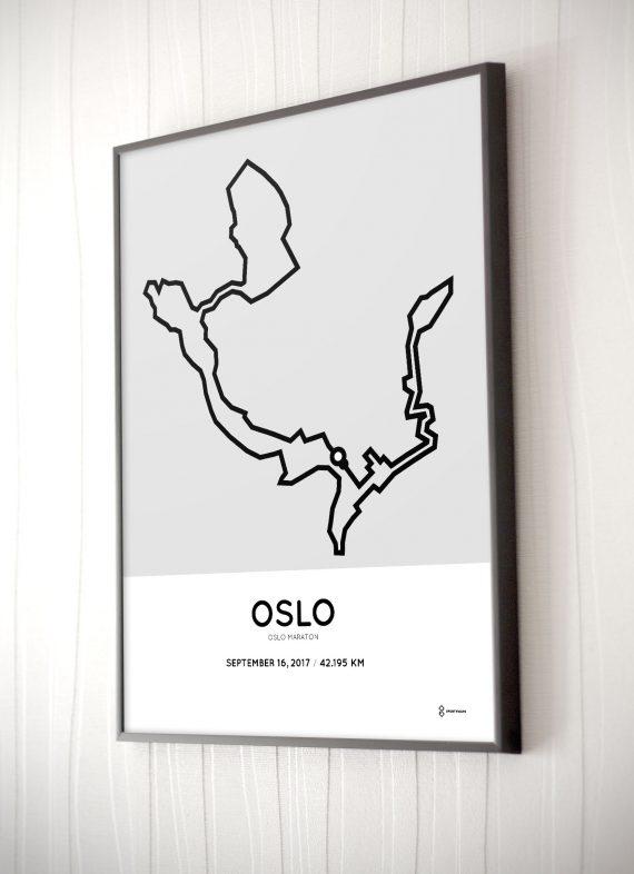2017 oslo marathon route print