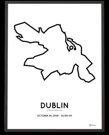 2008 Dublin marathon course print