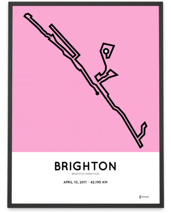 2011 Brighton marathon course poster