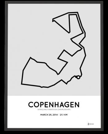 2014 Copenhagen half marathon course poster