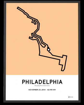 2014 Philadelphia marathon course poster