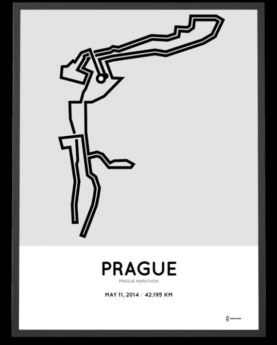 2014 Prague marathon course poster