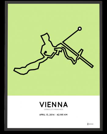 2014 Vienna city marathon strecke print