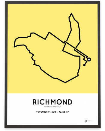 2015 Richmond marathon coursemap print