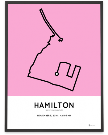 2016 Hamilton marathon course print