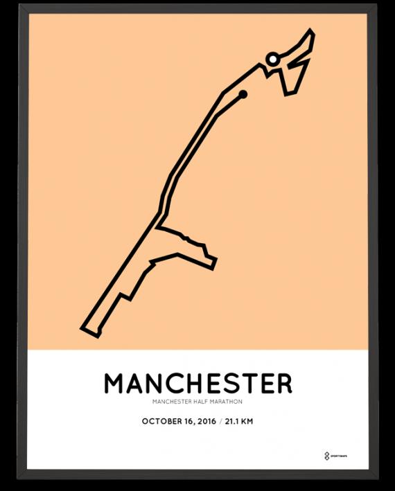 2016 Manchester half marathon course poster