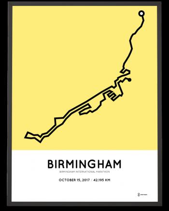 2017 Birmingham International marathon course poster