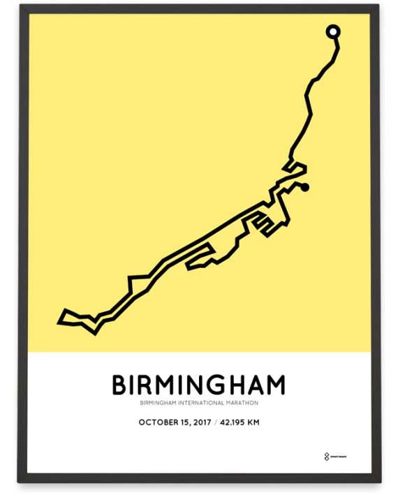 2017 Birmingham International marathon course poster