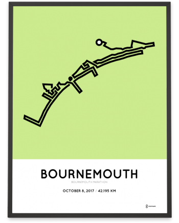 2017 Bournemouth marathon course poster
