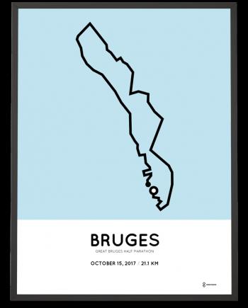 2017 Great Bruges half marathon parcours poster