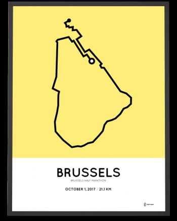 2017 Brussels half marathon parcours poster