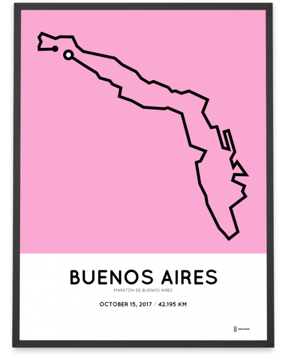 2017 Buenos aires marathon course poster