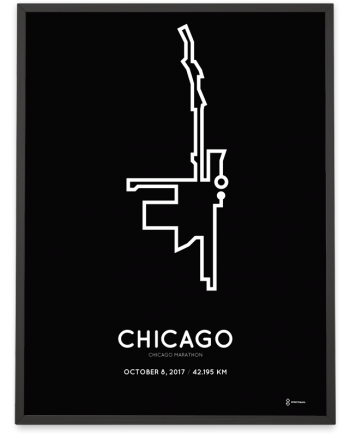 2017 Chicago marathon course poster