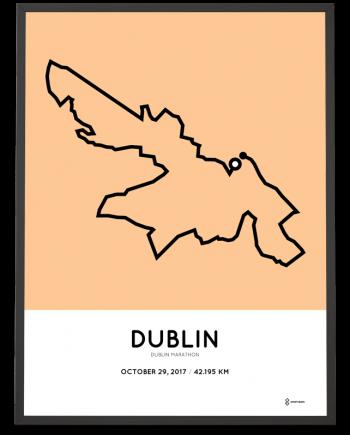 2017 Dublin marathon course poster