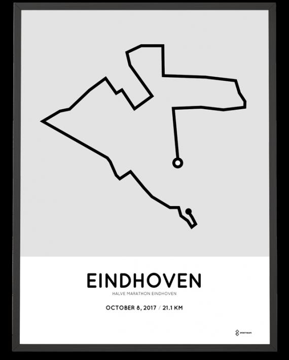 2017 Eindhoven half marathon course poster