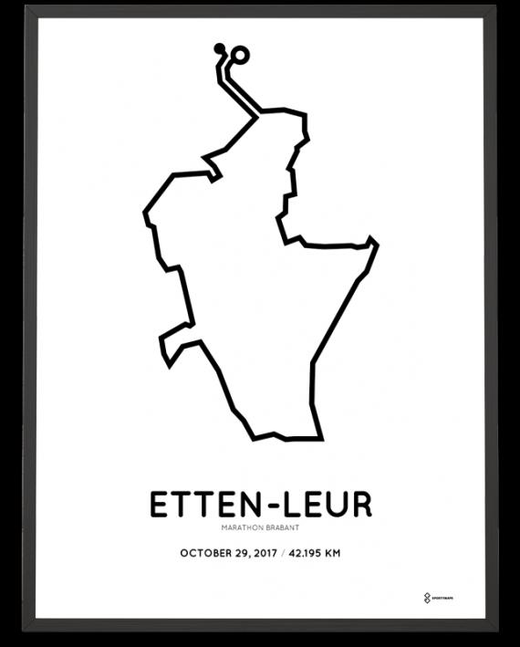 2017 Etten leur marathon route print