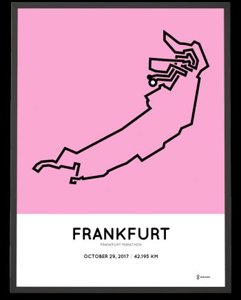 2017 Frankfurt marathon strecke poster