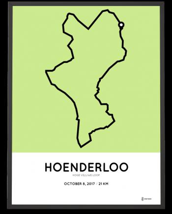 2017 Hoge Veluwe Loop half marathon parcours poster