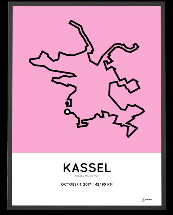 2017 Kassel marathon streckemap poster