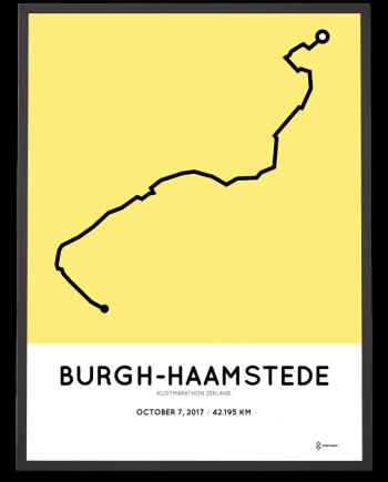 2017 Kustmarathon zeeland course poster