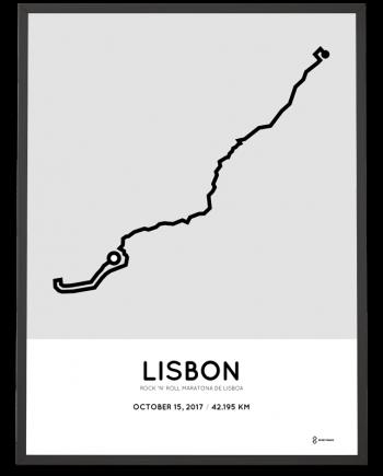 2017 Maratona de Lisboa course poster