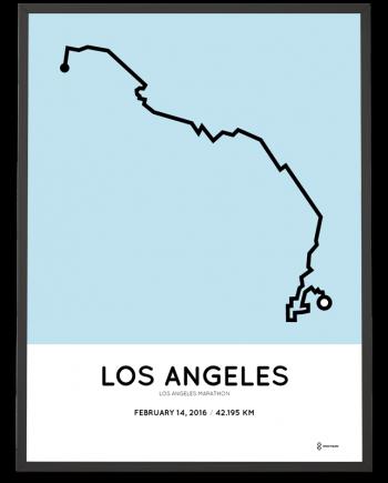 2017 Los Angeles marathon course poster