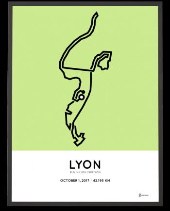 2017 Lyon marathon parcours poster