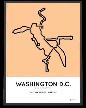 2017 Marine Corps marathon course poster