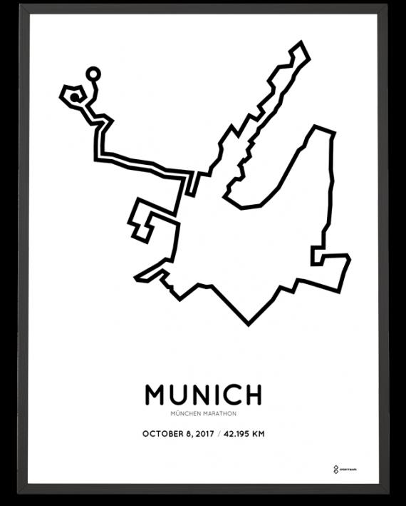 2017 Munich marathon course poster