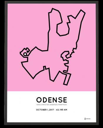 2017 Hans Christian Andersen Odense marathon course print