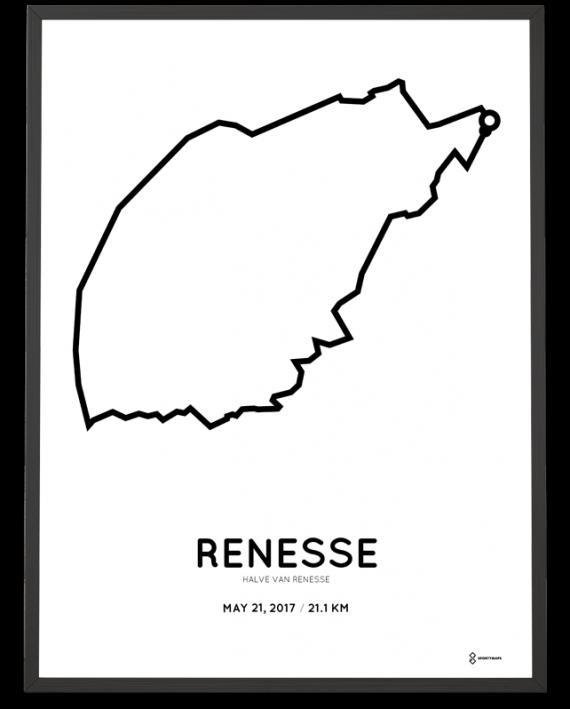 2017 Renesse half marathon parcours poster