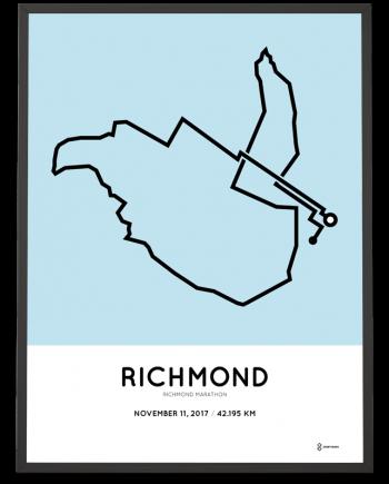 2017 Richmond USA marathon course poster
