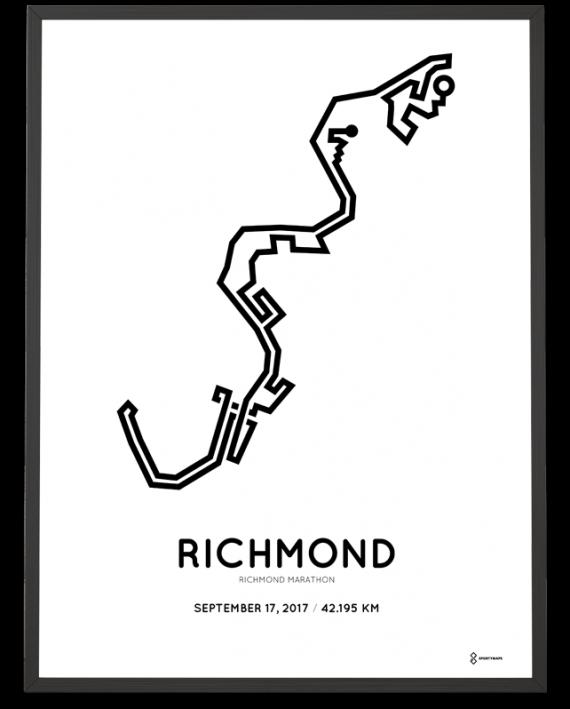 2017 Richmond-Runfest marathon course postern
