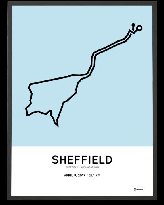 2017 Sheffield half marathon course poster