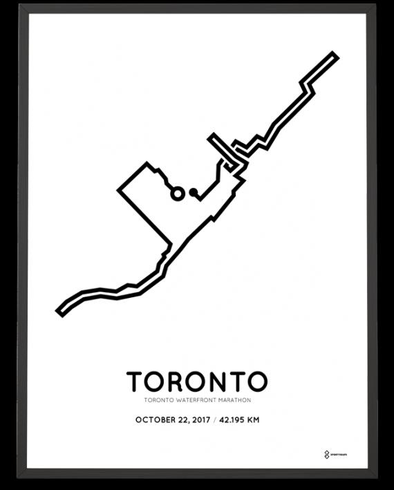 2017 Toronto Waterfront marathon course poster
