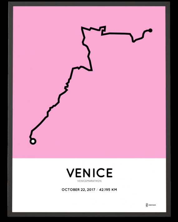 2017 Venice marathon course poster