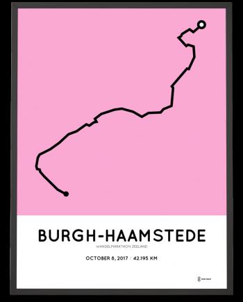 2017 Wandelmarathon zeeland route print