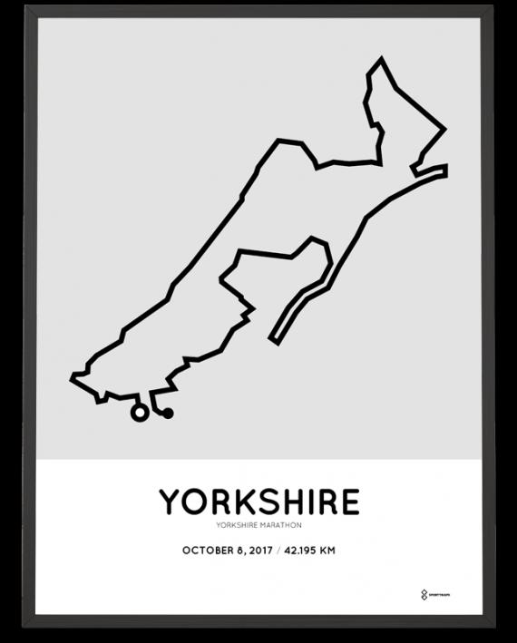 2017 Yorkshire marathon course poster