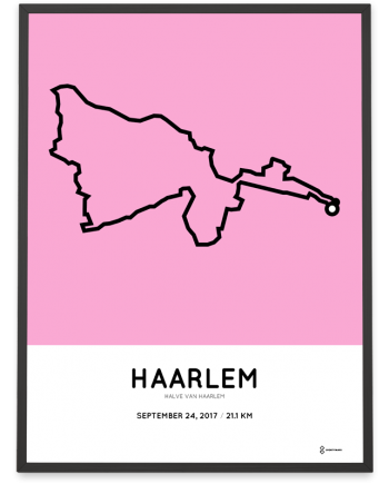 2017 haarlem halve marathon route print