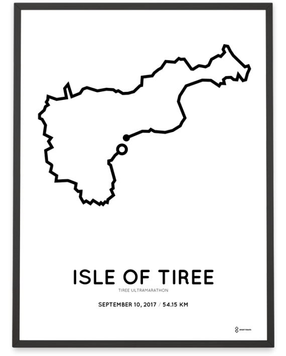2017 tiree ultramarathon course poster