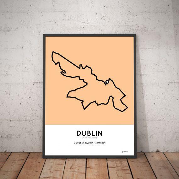 2017 Dublin marathon course print