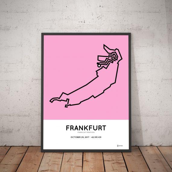 2017 Frankfurt marathon course print