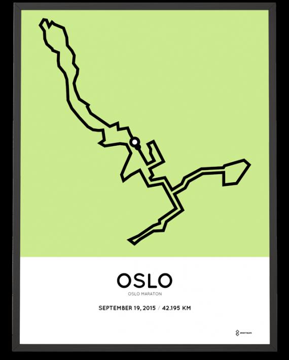 2015 Oslo marathon course print