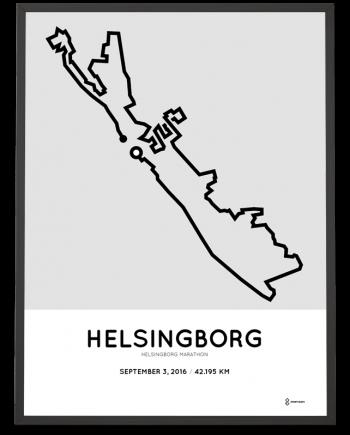 2016 Helsingborg marathon course poster
