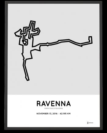 2016 Ravenna marathon course poster