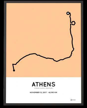 2017 Athens marathon course poster
