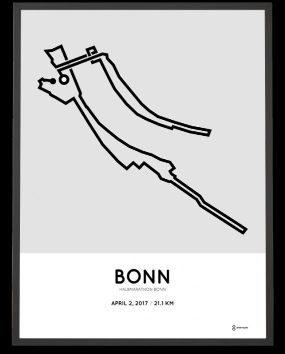 2017 Bonn halbmarathon strecke poster